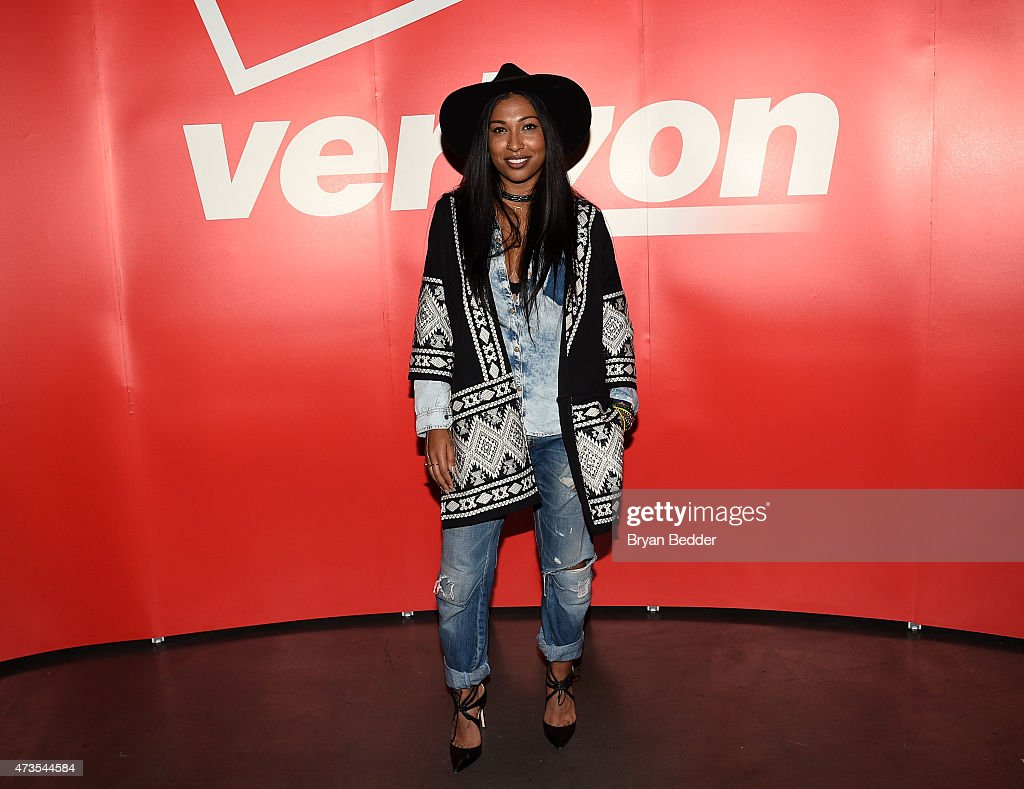 Melanie Fiona attends as Verizon Celebrates Consumers With 'The Big Payoff' Featuring A Special Exclusive Performance By Melanie Fiona And Expert...