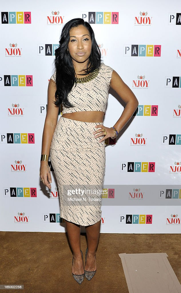 Melanie Fiona attends Paper Magazine's 16th Annual Beautiful People Party at Top of The Standard Hotel on April 2, 2013 in New York City.