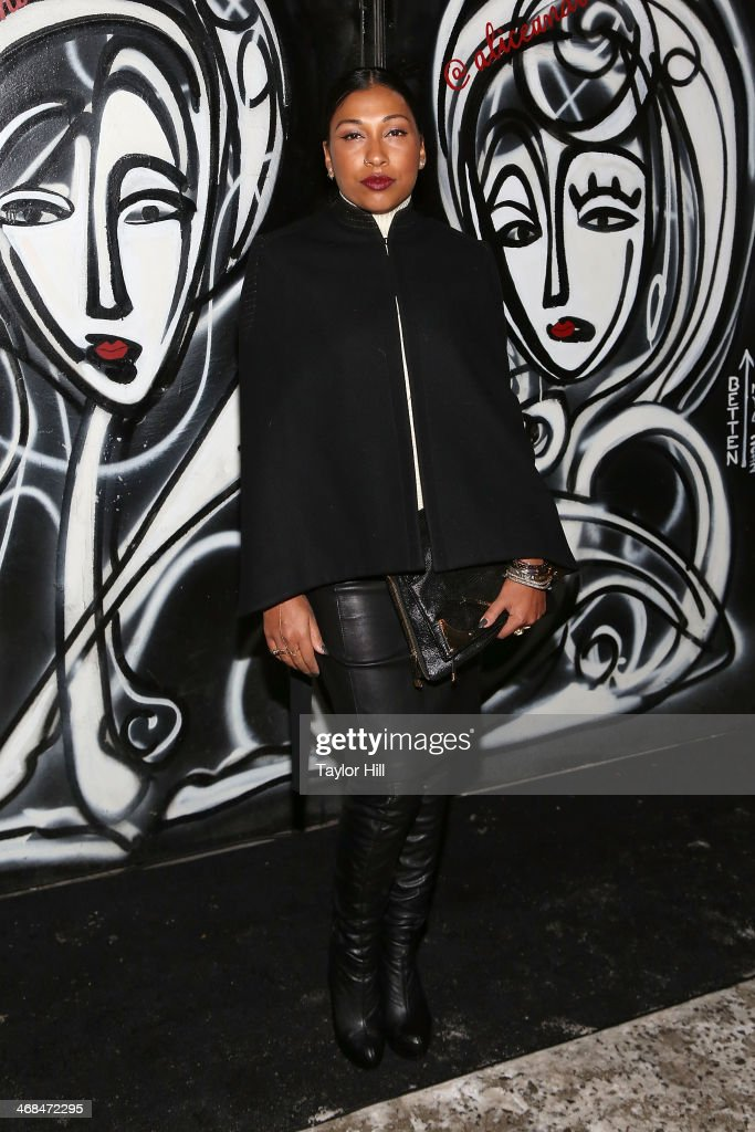 Melanie Fiona attends the Alice And Olivia fall 2014 fashion show on February 10 2014 in New York City