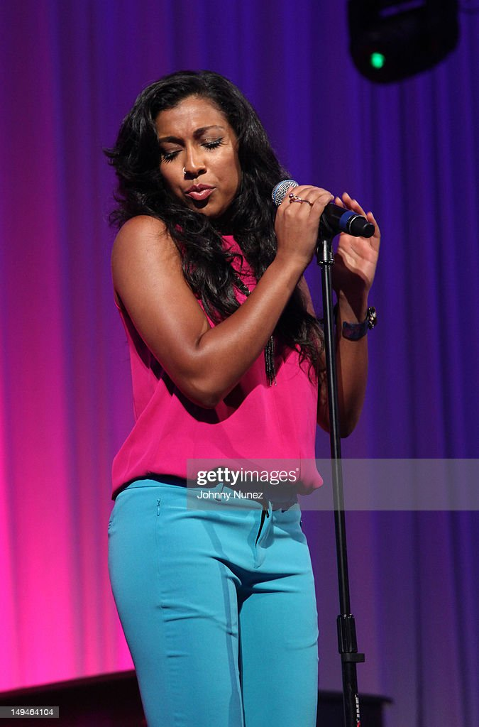 Melanie Fiona performs at the 13th Annual Russel Simmons Rush philanthropic ART FOR LIFE on July 28, 2012 in East Hampton, New York.