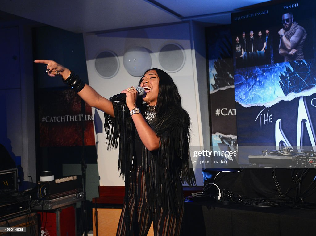 Melanie Fiona performs at the HBO Catch The Throne The Mixtape Vol II Listening Party on March 12 2015 in New York City