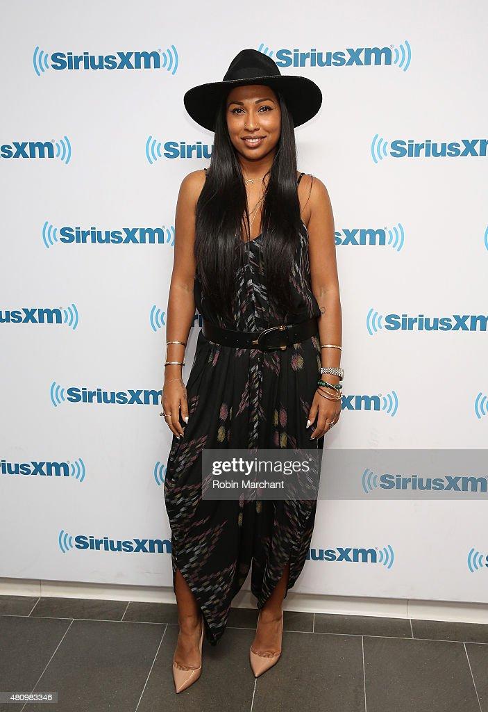 Melanie Fiona visits at SiriusXM Studios on July 16 2015 in New York City