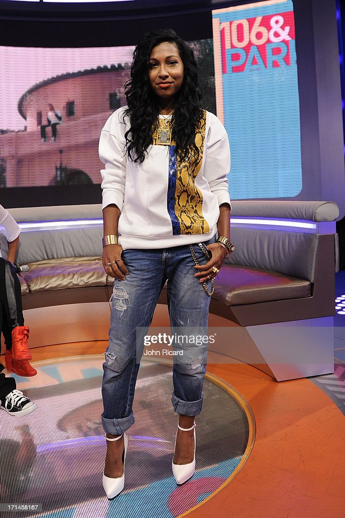 Melanie Fiona visits BET's '106 Park' at BET Studios on June 24 2013 in New York City