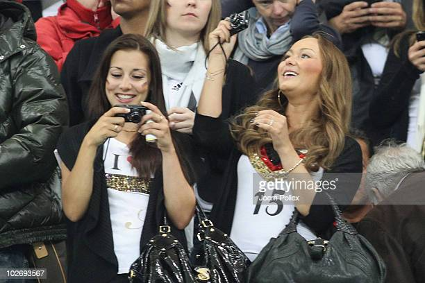 Melanie girlfriend of Piotr Trochowski attends the 2010 FIFA World Cup South Africa Semi Final match between Germany and Spain at Durban Stadium on...