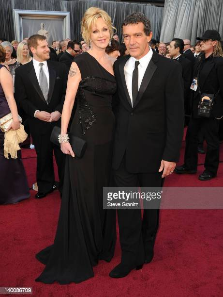 Melanie Griffith and Antonio Banderas arrives at the 84th Annual Academy Awards at Grauman's Chinese Theatre on February 26 2012 in Hollywood...