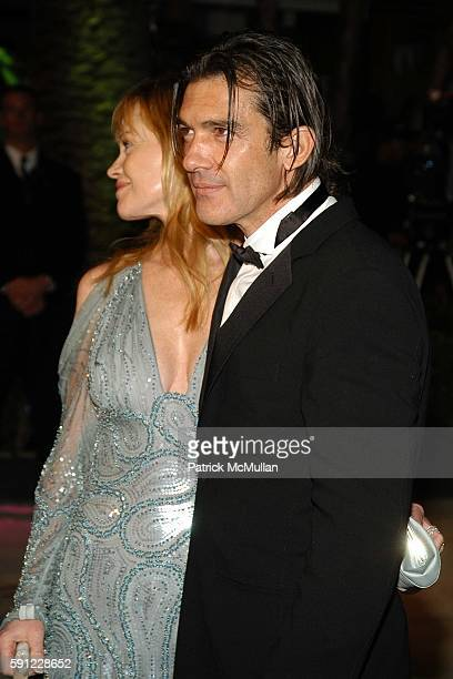 Melanie Griffith and Antonio Banderas attend Vanity Fair Oscar Party at Morton's Restaurant on February 27 2005 in Los Angeles California