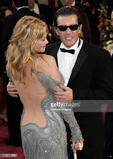 Melanie Griffith and Antonio Banderas during The 77th Annual Academy Awards ET Platform at Kodak Theatre in Los Angeles California United States