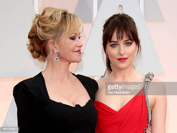 Melanie Griffith and Dakota Johnson arrive at the 87th Annual Academy Awards at Hollywood Highland Center on February 22 2015 in Los Angeles...