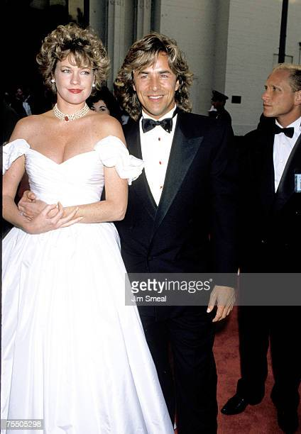 Melanie Griffith and Don Johnson at the Shrine Auditorium in Los Angeles California
