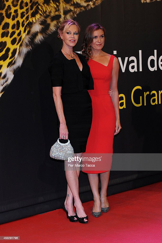 Melanie Griffith and Rachel McDonald attend 'Lucy' Premiere on August 6, 2014 in Locarno, Switzerland.