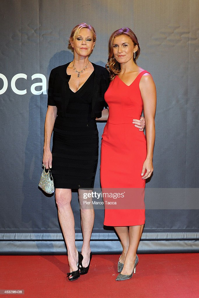 <a gi-track='captionPersonalityLinkClicked' href=/galleries/search?phrase=Melanie+Griffith&family=editorial&specificpeople=171682 ng-click='$event.stopPropagation()'>Melanie Griffith</a> and Rachel McDonald attend 'Lucy' Premiere on August 6, 2014 in Locarno, Switzerland.