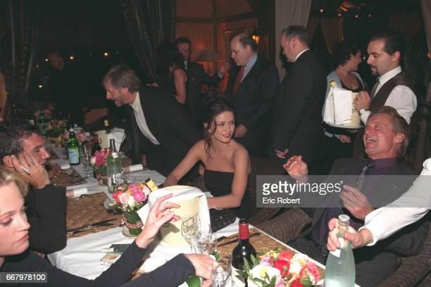 Melanie Griffith Antonio Banderas Catherine ZetaJones and Michael Douglas at the dinner