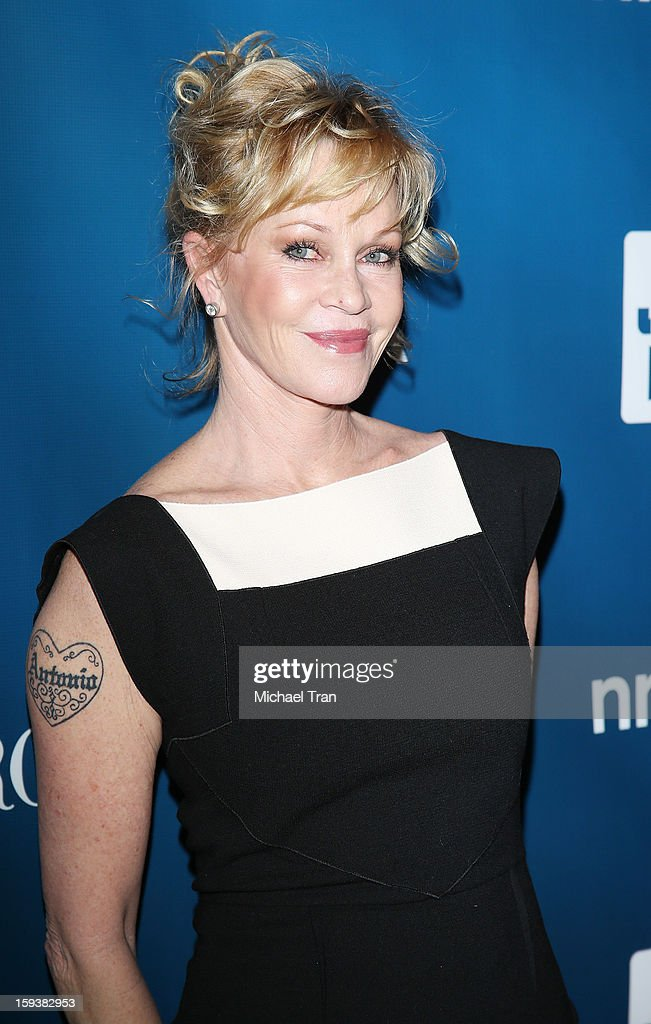<a gi-track='captionPersonalityLinkClicked' href=/galleries/search?phrase=Melanie+Griffith&family=editorial&specificpeople=171682 ng-click='$event.stopPropagation()'>Melanie Griffith</a> arrives at the 2nd Annual Sean Penn & Friends 'Help Haiti Home' held at Montage Hotel on January 12, 2013 in Los Angeles, California.