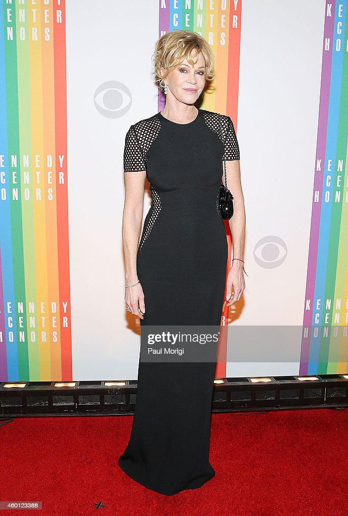 Melanie Griffith arrives at the 37th Annual Kennedy Center Honors at the John F Kennedy Center for the Performing Arts on December 7 2014 in...