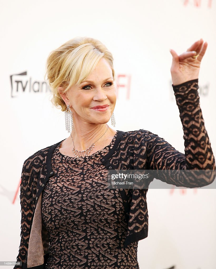 <a gi-track='captionPersonalityLinkClicked' href=/galleries/search?phrase=Melanie+Griffith&family=editorial&specificpeople=171682 ng-click='$event.stopPropagation()'>Melanie Griffith</a> arrives at TV Land Presents: AFI Life Achievement Award honoring Shirley MacLaine held at Sony Studios on June 7, 2012 in Los Angeles, California.