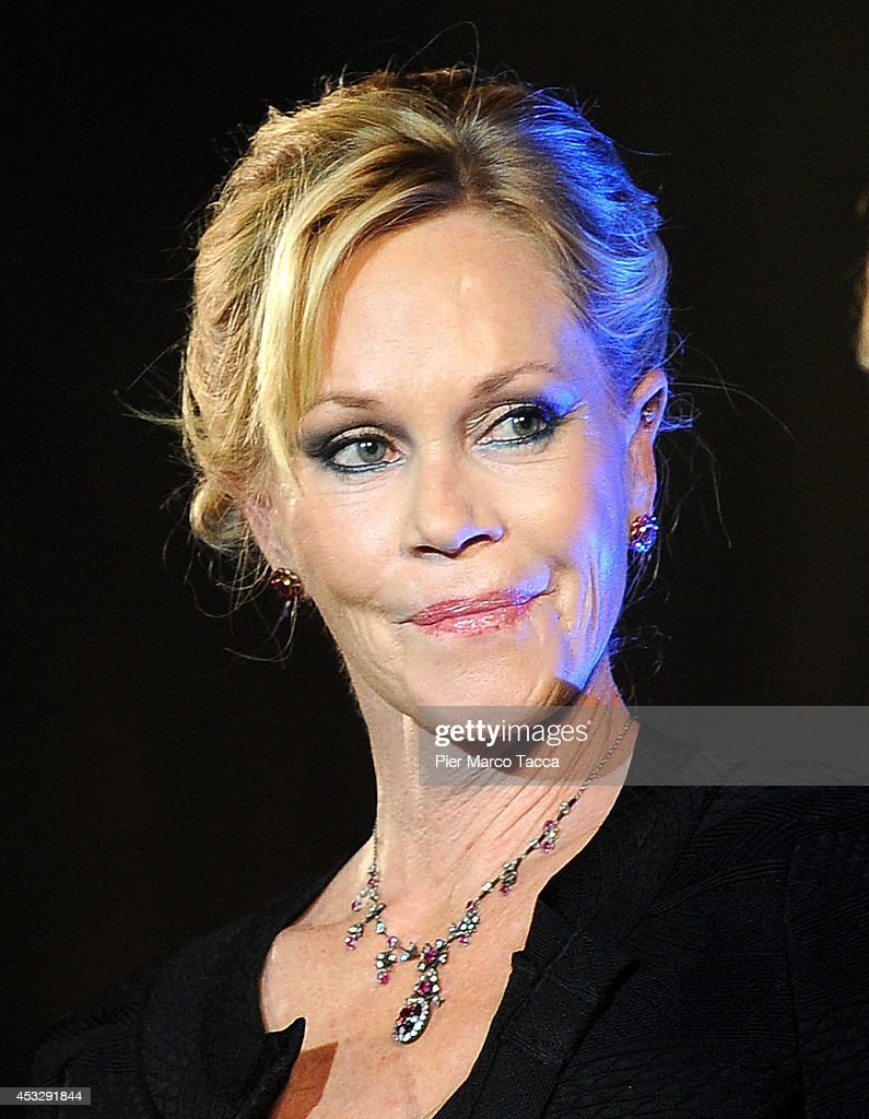 Melanie Griffith attends 'Lucy' Premiere on August 6, 2014 in Locarno, Switzerland.