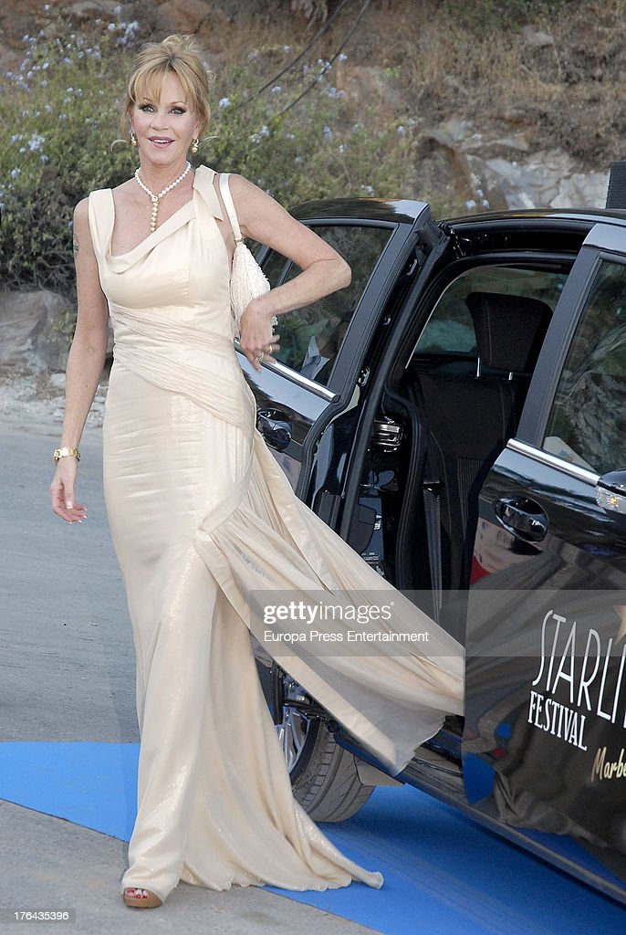 <a gi-track='captionPersonalityLinkClicked' href=/galleries/search?phrase=Melanie+Griffith&family=editorial&specificpeople=171682 ng-click='$event.stopPropagation()'>Melanie Griffith</a> attends the 4rd annual Starlite Charity Gala on August 10, 2013 in Marbella, Spain.