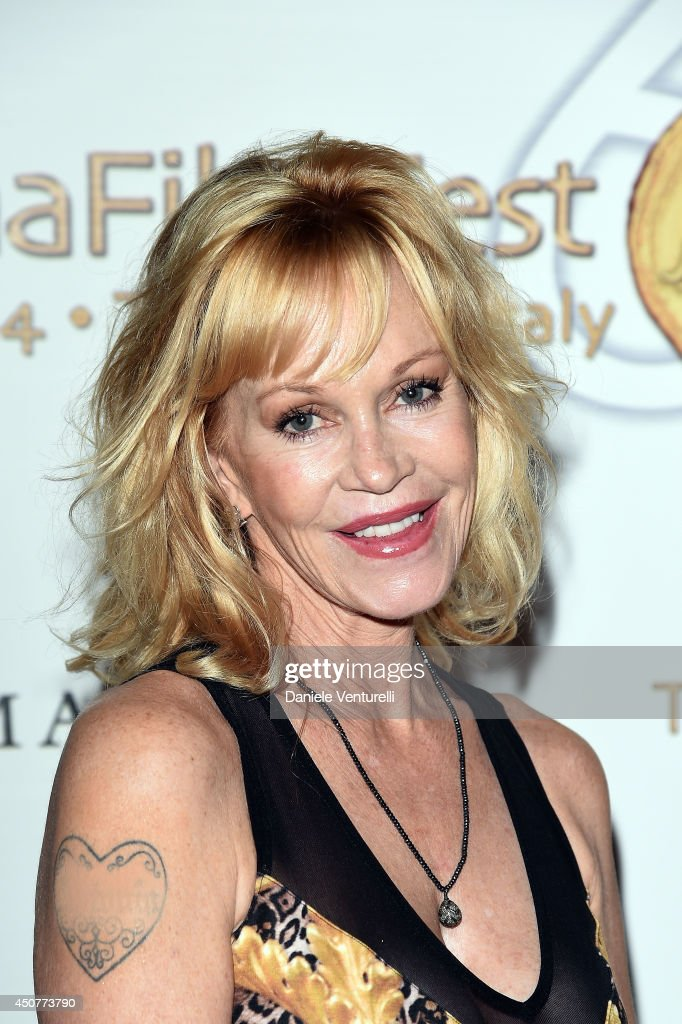 Melanie Griffith attends the 60th Taormina Film Fest on June 17 2014 in Taormina Italy