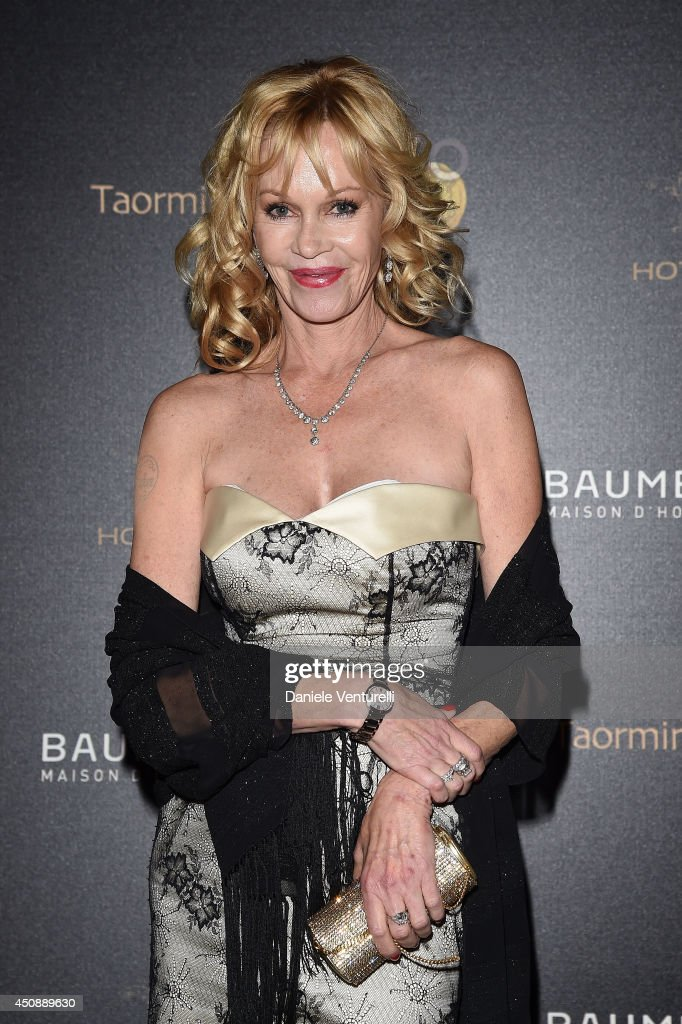Melanie Griffith attends the Baume Mercier Promesse Taormina Award dinner during the 60th Taormina Film Fest on June 19 2014 in Taormina Italy