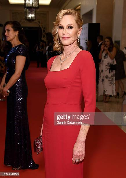 Melanie Griffith attends the Global Gift Gala during day six of the 13th annual Dubai International Film Festival held at the Four Seasons Hotel on...