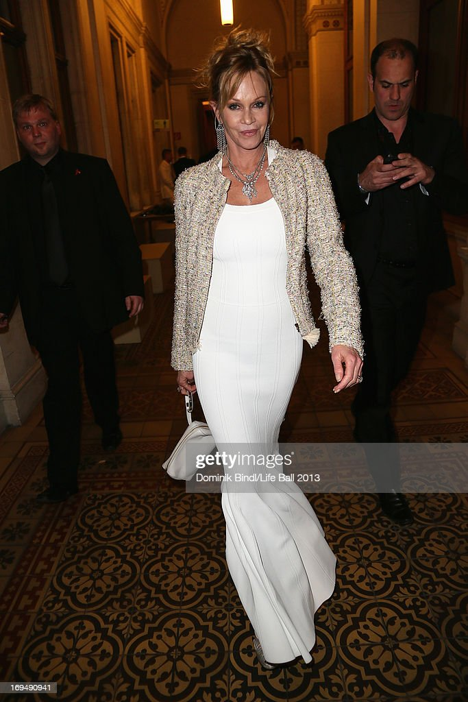 Melanie Griffith attends the 'Life Ball 2013 - After Show Party' at City Hall on May 25, 2013 in Vienna, Austria.