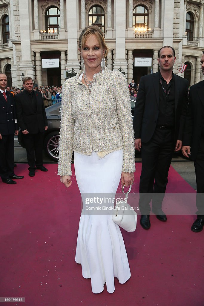 Melanie Griffith attends the 'Life Ball 2013 - Magenta Carpet Arrivals' at City Hall on May 25, 2013 in Vienna, Austria.