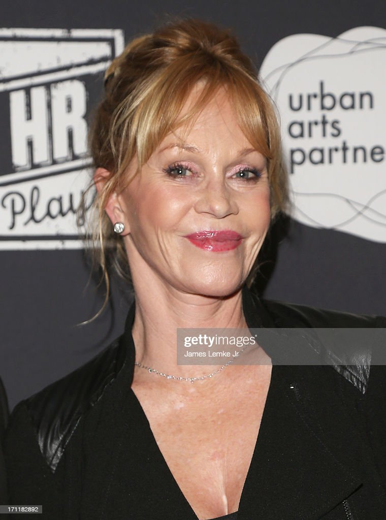 Melanie Griffith attends the Montblanc Presents 3rd Annual 24 Hour Plays Los Angeles held at The Shore Hotel on June 22 2013 in Santa Monica...