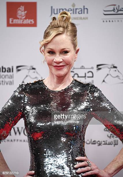 Melanie Griffith attends the 'Solitaire' red carpet during day five of the 13th annual Dubai International Film Festival held at the Madinat Jumeriah...