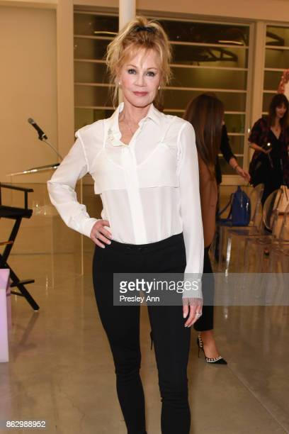 Melanie Griffith attends VIP Conversation for Women's Brain Health Initiative Hosted by Sharon Stone at Gagosian Gallery on October 18 2017 in...