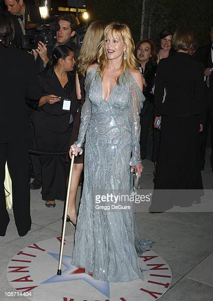 Melanie Griffith during 2005 Vanity Fair Oscar Party Arrivals at Mortons in Los Angeles California United States