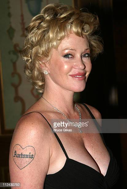 Melanie Griffith during Antonio Banderas and Melanie Griffith honored by The Drama League at The Hotel Pierre in New York City New York United States