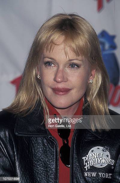 Melanie Griffith during Melanie Griffith Promotes Feed the Children March 26 1998 at Planet Hollywood in New York City New York United States