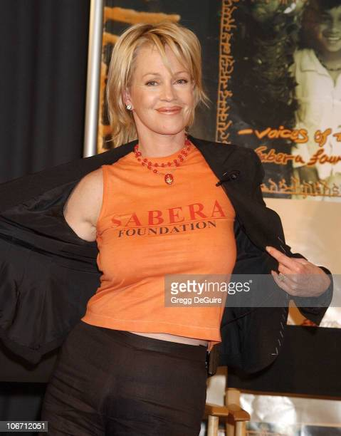 Melanie Griffith during Penelope Cruz at Press Conference Announcing Launch of US Branch of the SABERA Foundation at CAA in Beverly Hills California...