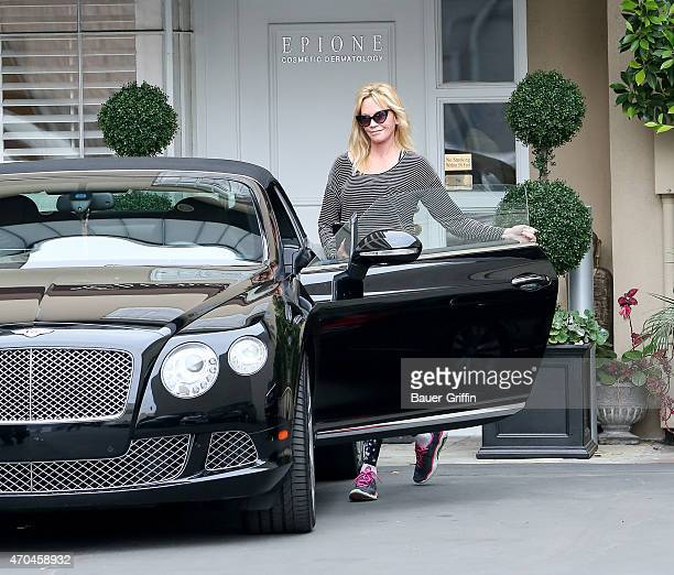 Melanie Griffith is seen in Beverly Hills on April 20 2015 in Los Angeles California