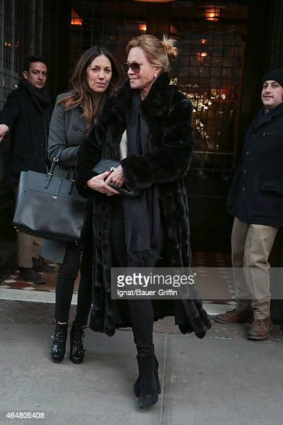 Melanie Griffith is seen on February 28 2015 in New York City