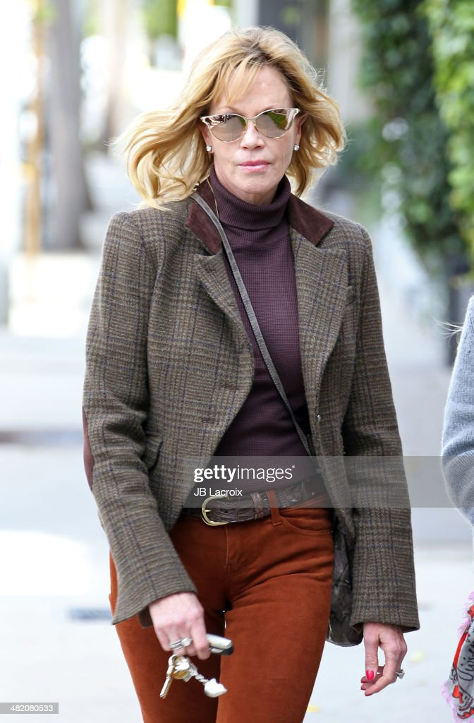 Melanie Griffith is seen shopping on April 2, 2014 in Los Angeles, California.
