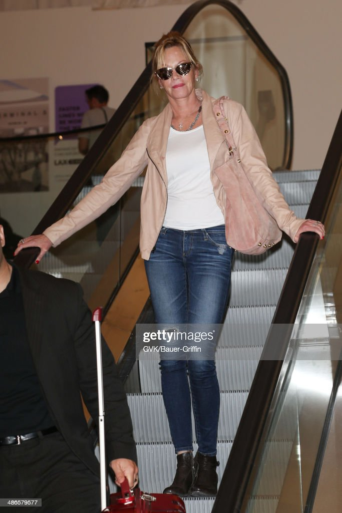 <a gi-track='captionPersonalityLinkClicked' href=/galleries/search?phrase=Melanie+Griffith&family=editorial&specificpeople=171682 ng-click='$event.stopPropagation()'>Melanie Griffith</a> seen at LAX on April 24, 2014 in Los Angeles, California.