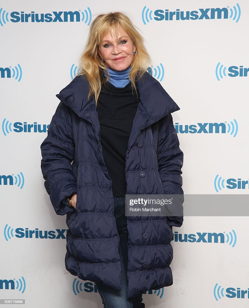 Melanie Griffith visits at SiriusXM Studios on February 12, 2016 in New York City.