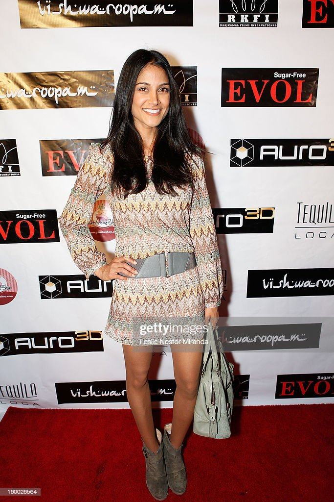 Melanie Kannokada attends the World Premiere of 'Vishwaroopam' held at Pacific Theaters at the Grove on January 24, 2013 in Los Angeles, California.