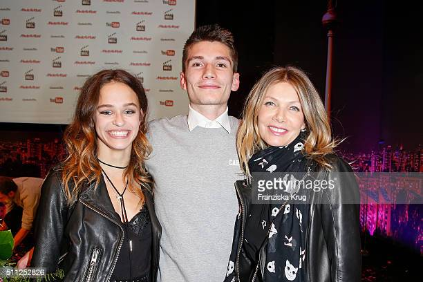 Melanie Kieback Christopher Karven and Ursula Karven attend the 99FireFilmAward 2016 at Admiralspalast on February 18 2016 in Berlin Germany