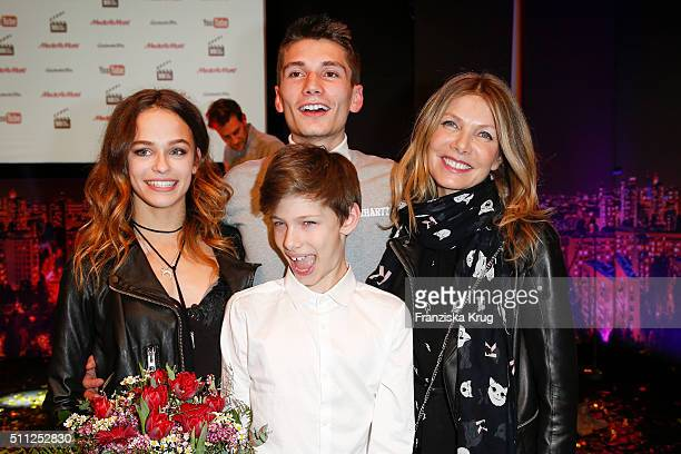 Melanie Kieback Christopher Karven Liam Karven and Ursula Karven attend the 99FireFilmAward 2016 at Admiralspalast on February 18 2016 in Berlin...
