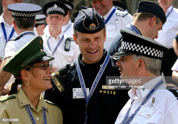 Melanie Kostkc of the German Police with Tomas Hellgren from the Swedish Police and Insp Bob Kenwrick from the British Transport Police get to know...