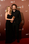 Melanie Laurent and Cyril Dion pose with their award of Best Documentary for the movie 'Demain' during The Cesar Film Awards 2016 at Theatre du...