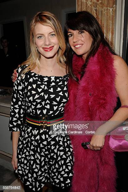 Melanie Laurent and Elsa Wolinski attend the 7th annual Sidaction fashion fundraising dinner to fight AIDS in Paris