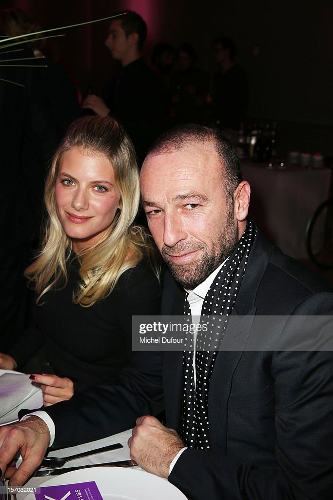 <a gi-track='captionPersonalityLinkClicked' href=/galleries/search?phrase=Melanie+Laurent&family=editorial&specificpeople=2721978 ng-click='$event.stopPropagation()'>Melanie Laurent</a> and Jerome Pullis attend the AIDES International Gala Dinner at Grand Palais on November 27, 2012 in Paris, France.