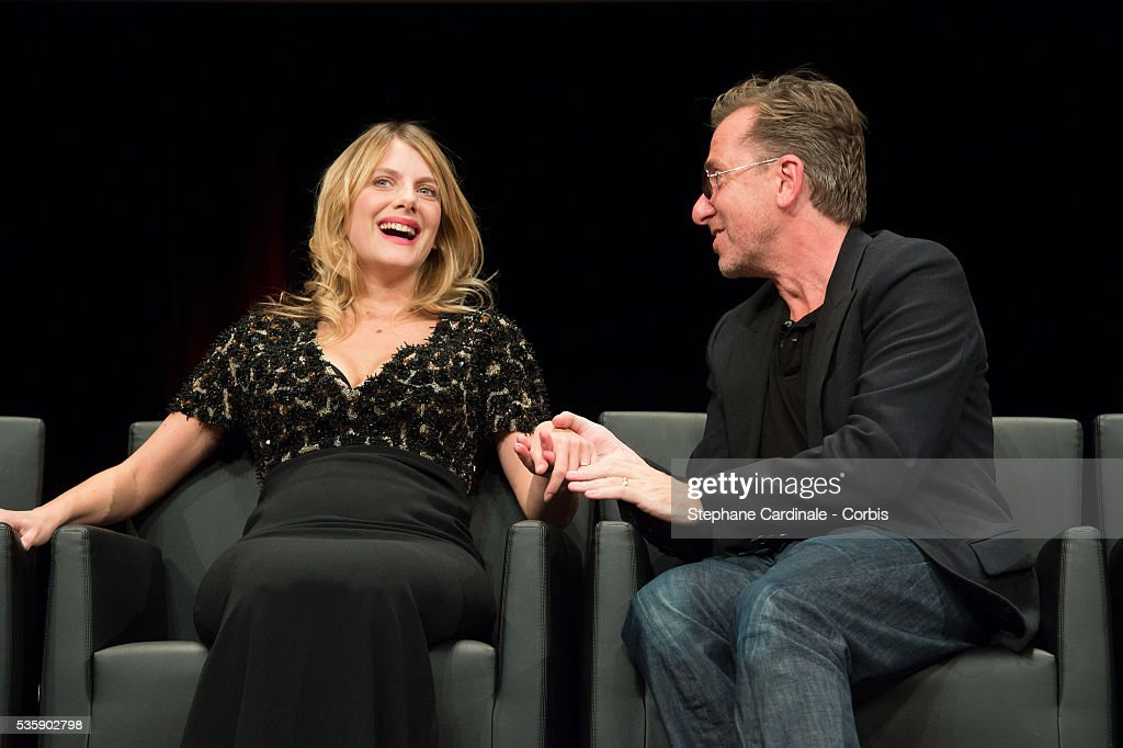Melanie Laurent and Tim Roth attend the Tribute to Quentin Tarantino, during the 5th Lumiere Film Festival, in Lyon.