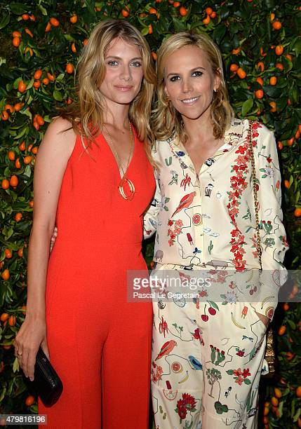 Melanie Laurent and Tory Burch attend the Tory Burch Paris Flagship store opening on July 7 2015 in Paris France