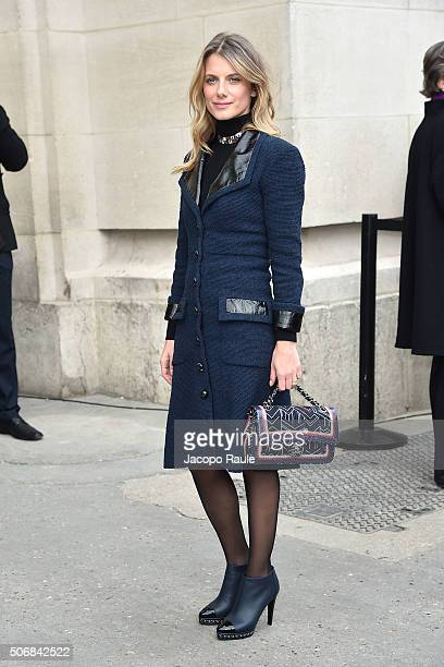 Melanie Laurent arrives at the Chanel fashion show Paris Fashion Week Haute Coture Spring /Summer 2016 on January 26 2016 in Paris France