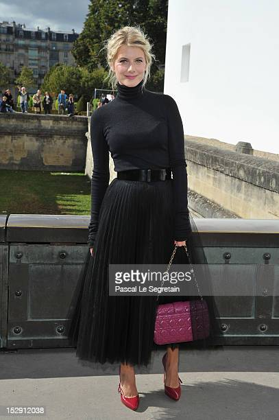 Melanie Laurent arrives at the Christian Dior Spring / Summer 2013 show as part of Paris Fashion Week on September 28 2012 in Paris France