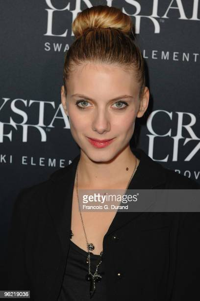 Melanie Laurent attends the 22 Iconic Little Black Dresses by Swarovski at Hotel Pozzo di Borgo on January 27 2010 in Paris France